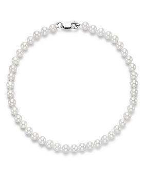Bloomingdale's - Cultured Freshwater Pearl Bracelet in 14K White Gold - 100% Exclusive