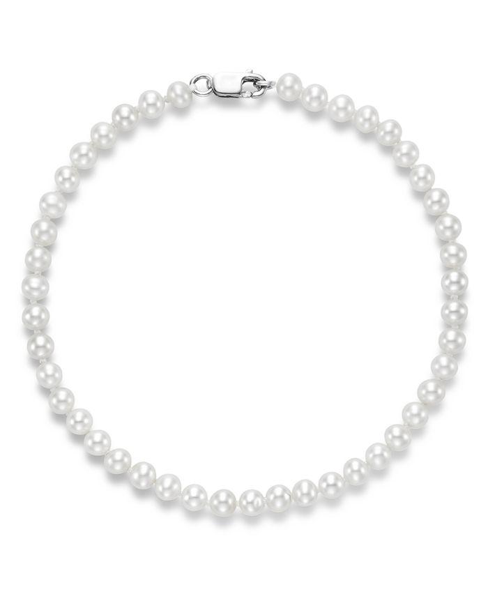 Bloomingdale's Cultured Freshwater Pearl Bracelet in 14K White Gold - 100% Exclusive    Bloomingdale's