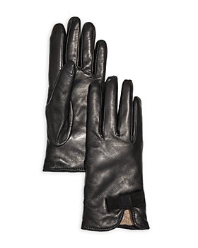 Bloomingdale's - Bow Leather & Cashmere Gloves - 100% Exclusive