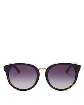 Tory Burch - Women's Phantos Polarized Round Sunglasses, 53MM
