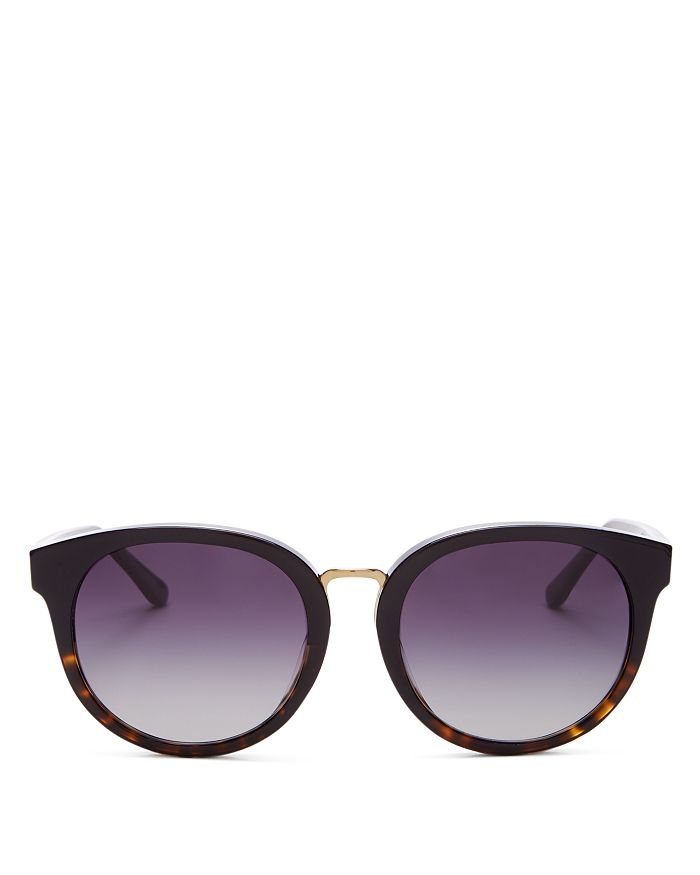 Tory Burch - Women's Phantos Polarized Round Sunglasses, 53MM