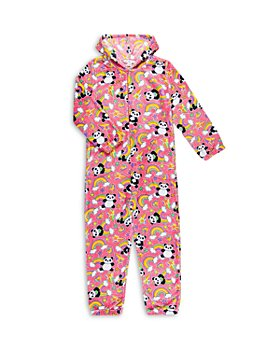 Candy Pink - Girls' Fleece Panda Coverall - Big Kid