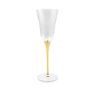 Vietri Optical Gold Stem Champagne Glass-Home