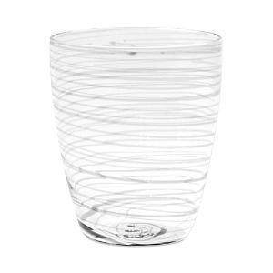 Vietri Swirl White Short Tumbler-Home
