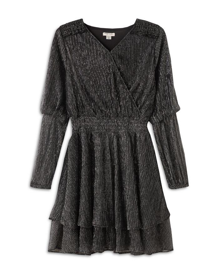Habitual Kids Girls' Vivienne Metallic Striped Dress - Big Kid  | Bloomingdale's