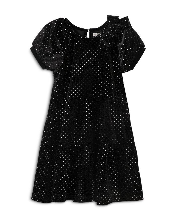 Habitual Kids Girls' Jasmine Glitter Dot Velour Dress - Little Kid  | Bloomingdale's