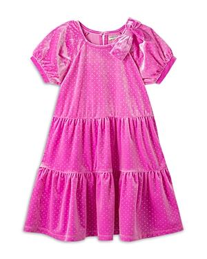 Habitual GIRLS' JASMINE GLITTER DOT VELOUR DRESS - LITTLE KID