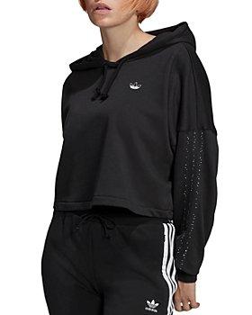 Adidas - Cropped Logo Hoodie