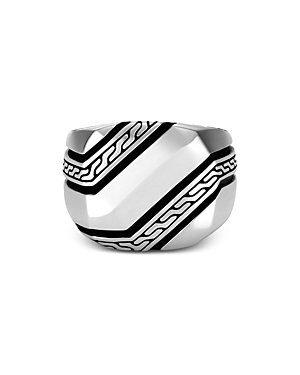 John Hardy Men\\\'s Sterling Silver Classic Chain Signet Ring-Jewelry & Accessories