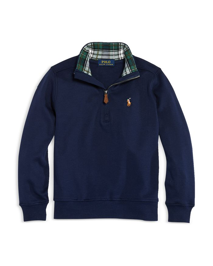 Ralph Lauren - Boys' Cotton Quarter Zip Pullover - Little Kid, Big Kid
