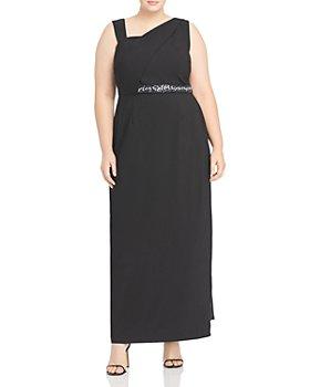 Adrianna Papell Plus - Asymmetrical Column Gown