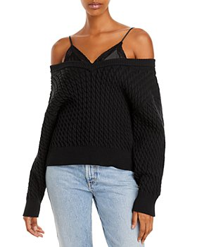 alexanderwang.t - Layered Look Cable Sweater