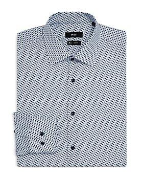 BOSS - Men's Jango Fish Print Slim Fit Dress Shirt