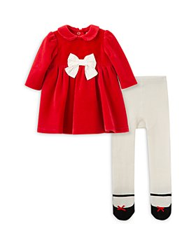 Little Me - Girls' Dress and Tights Set - Baby