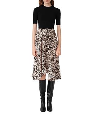 Maje Rapri Layered Look Midi Dress-Women