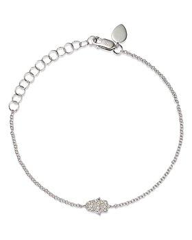 Meira T - 14K White Gold Diamond Pave Hamsa Bracelet