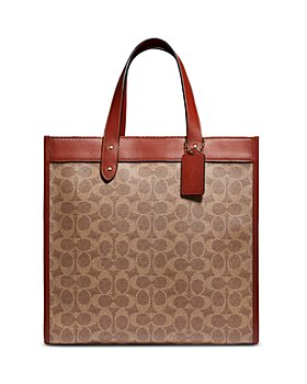 COACH - Field Small Signature Canvas Print Tote