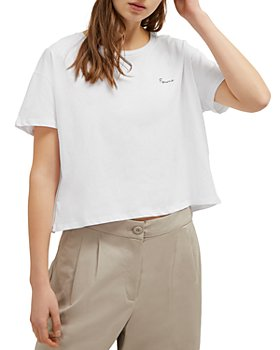 FRENCH CONNECTION - Femme Cropped Tee