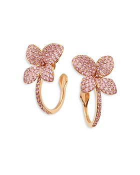 Pasquale Bruni - 18K Rose Gold Petit Garden Pink Sapphire Hoop Earrings