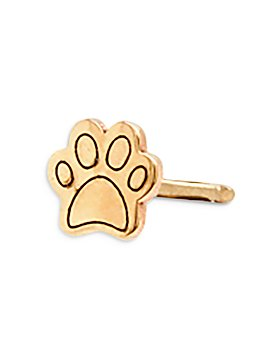 Zoë Chicco - 14K Yellow Gold Itty Bitty Paw Single Stud Earring