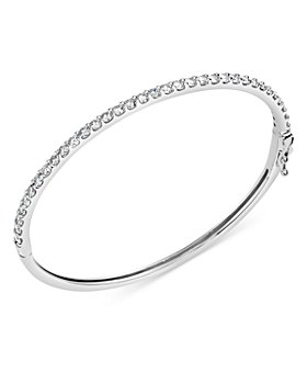 Bloomingdale's - Diamond Bangle Bracelet in 14K White Gold, 1.0 ct. t.w. - 100% Exclusive