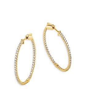 Bloomingdale's - Diamond Inside-Out Hoop Earrings in 14K Yellow Gold, 1.0 ct. t.w. - 100% Exclusive