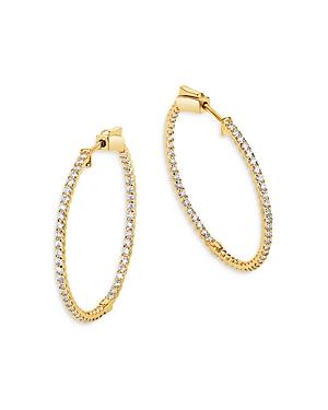 Bloomingdale's Diamond Inside-Out Hoop Earrings in 14K Yellow Gold, 1.0 ct. t.w. - 100% Exclusive