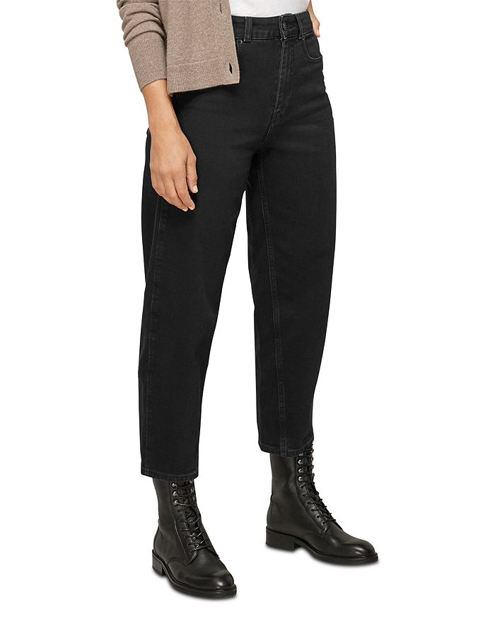 Whistles - High Waist Barrel Jeans in Black