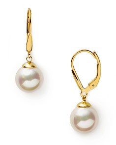 Majorica 10mm White Simulated Pearl Drop Eurowire Earrings - Bloomingdale's_0
