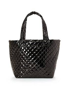 MZ WALLACE - Black Lacquer Medium Metro Tote Deluxe