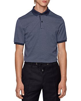 BOSS - Penrose 28 Cotton Micro Pattern Polo Shirt