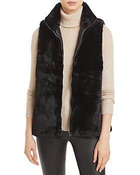 Echo - Faux Fur Zip Front Vest