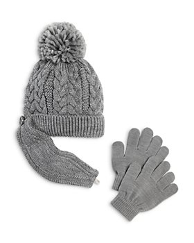 Capelli - Unisex Cable Knit Hat & Gloves Set - Little Kid, Big Kid