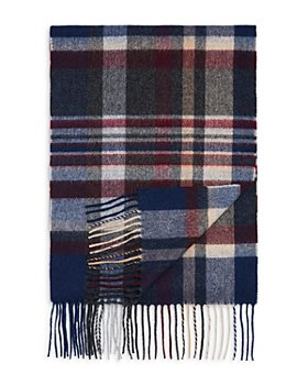 The Men's Store at Bloomingdale's - Striped Plaid Cashmere Scarf - 100% Exclusive