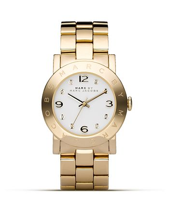 MARC JACOBS - MARC BY  New Amy Gold Watch, 36mm