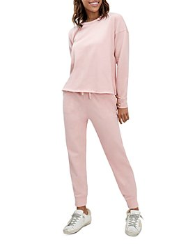 Splendid - Eco Crewneck Sweatshirt & Eco Drawstring Cropped Sweatpants