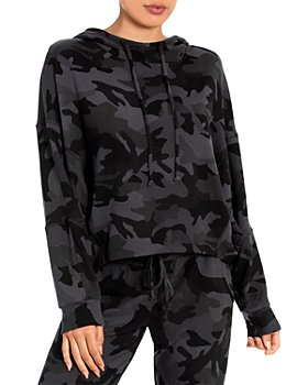 Midnight Bakery - Camo Print Cropped Lounge Hoodie