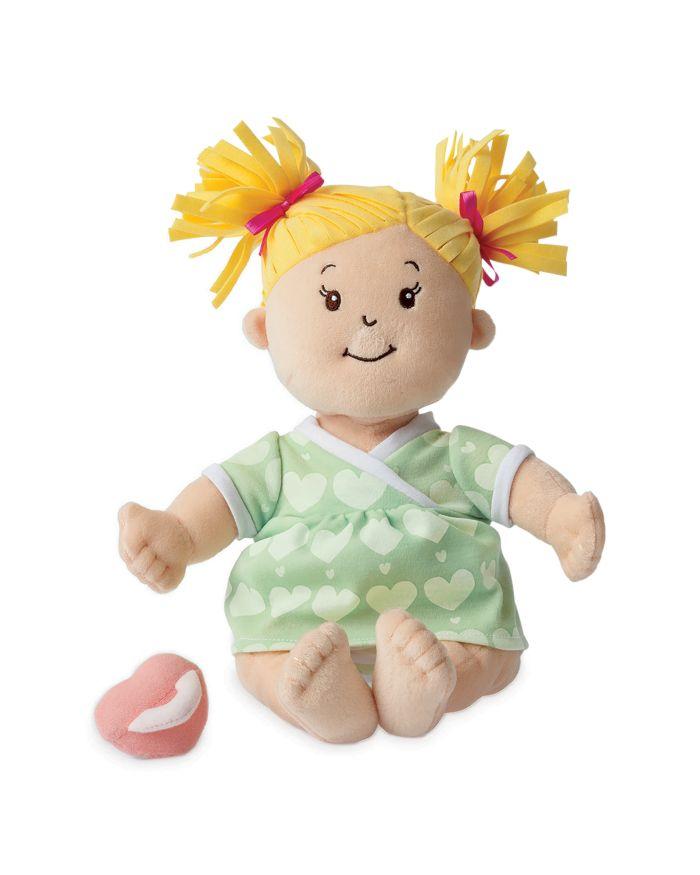 Manhattan Toy Baby Stella Blonde Hair Soft Nurturing First Baby Doll - Ages 12 Months+  | Bloomingdale's