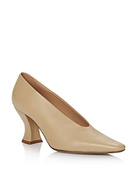 Bottega Veneta - Women's Square-Toe Leather Pumps