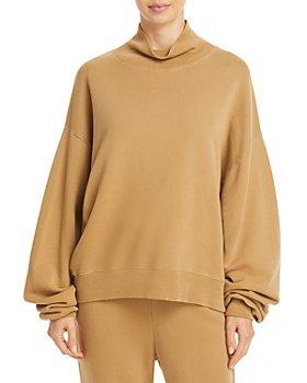 FRAME - Cotton Funnel Neck Sweatshirt