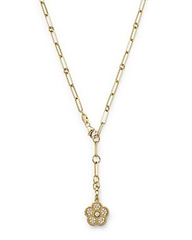 Roberto Coin - 18K Yellow Gold Daisy Lux Diamond Locket Y Necklace, 20""