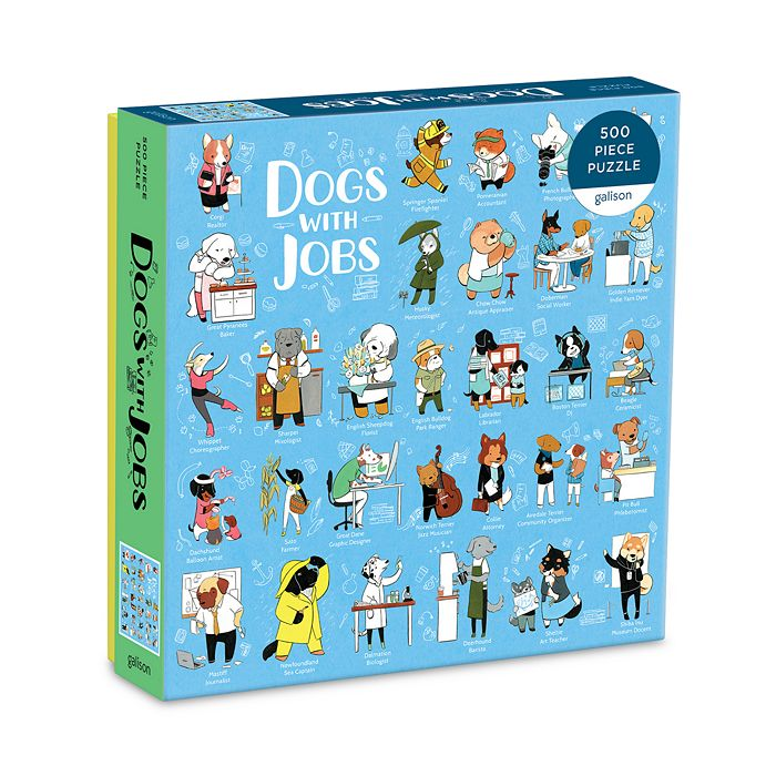 Chronicle Books - Dogs With Jobs 500 Piece Puzzle