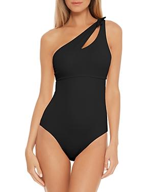 Color Code Asymmetrical One Piece Swimsuit