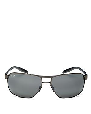 Men's The Bird Polarized Brow Bar Square Sunglasses