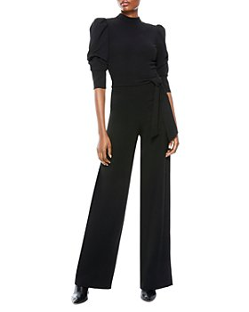 Alice and Olivia - Alexis Puff Sleeve Jumpsuit