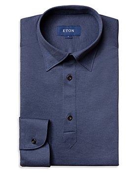 Eton - Cotton Piqué Contemporary Fit Long Sleeve Polo Shirt