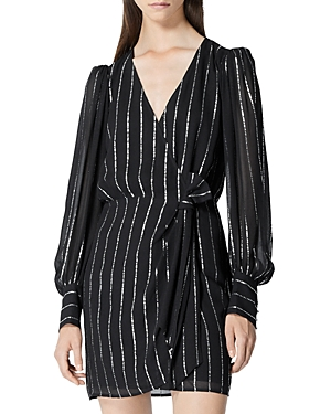 The Kooples STRIPED WRAP DRESS