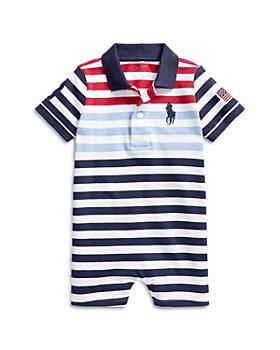 Ralph Lauren - Boys' Striped Polo Shirt Romper - Baby