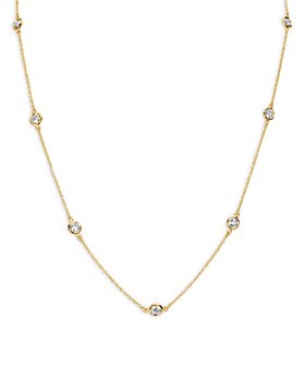 "Bloomingdale's - Diamond Bezel Statement Necklace in 14K Yellow Gold, 1.5 ct. t.w., 18"" - 100% Exclusive"