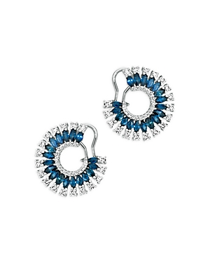 Bloomingdale's Blue Sapphire & Diamond Statement Earrings in 14K White Gold -100% Exclusive